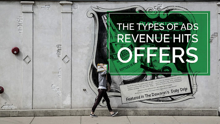 Types of Ads RevenueHits Offer header