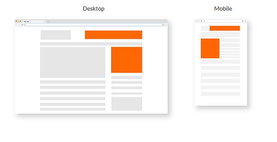 desktop and mobile banner ads