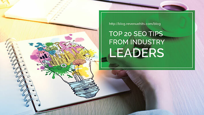 Top 20 SEO Tips from Industry Leaders header