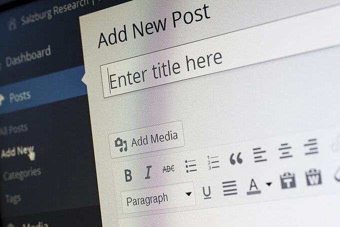 Wordpress Add New Article